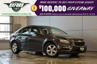 Used 2016 Chevrolet Cruze LT - well equipped, low kms, clean carproof for sale in London, ON