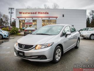 Used 2013 Honda Civic LX , Factory Warranty Until 2020 for sale in Port Moody, BC