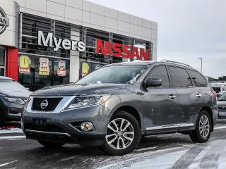 Used 2015 Nissan Pathfinder SL 4WD leather, navigation, reverse camera, electric and heated seats, sunroof, intelligent key with starter, tilt steering, CD, Bluetooth for sale in Orleans, ON