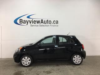 Used 2017 Nissan Micra SV - 600KMS! AUTO! A/C! BLUETOOTH! CRUISE! PWR GROUP! for sale in Belleville, ON