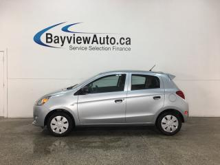 Used 2015 Mitsubishi Mirage ES - A/C! BLUETOOTH! PWR GROUP! for sale in Belleville, ON