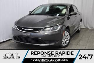 Used 2017 Chrysler 200 Bluetooth * A/C * Intérieur Tissu for sale in Laval, QC