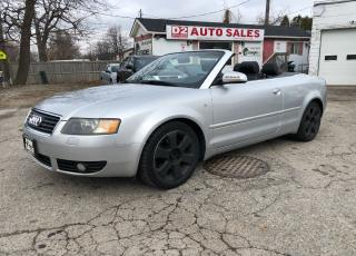 Used 2003 Audi A4 Certified/Convertible/Automatic/Leather/Bluetooth for sale in Scarborough, ON