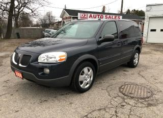 Used 2008 Pontiac Montana SV6/Certified/7 Passenger/Low KM for sale in Scarborough, ON