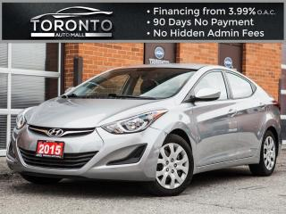 Used 2015 Hyundai Elantra Automatic certified Heated seats Power options for sale in North York, ON