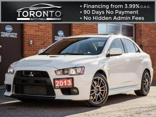 Used 2013 Mitsubishi Lancer Evolution MR Recaro leather Navi Sunroof Xenon for sale in North York, ON