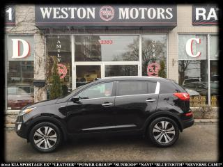Used 2012 Kia Sportage EX*LEATHER*PWR GRP*SUNROOF*NAVI*BTOOTH*REVERSE CAM for sale in Toronto, ON