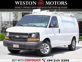 Used 2010 Chevrolet Express 1500 V6*4.3L*SLIDING DOORS*SHELVING*RACKS*REAR GLASS!!* for sale in Toronto, ON