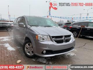 Used 2018 Dodge Grand Caravan Crew | LEATHER | CAM  | 1 OWNER for sale in London, ON