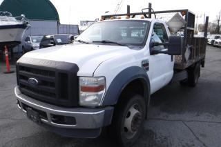 Used 2009 Ford F-550 2WD Dually Diesel 11 Foot Flatdeck with Power Tailgate for sale in Burnaby, BC