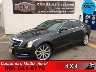 Used 2015 Cadillac ATS 2.0 Turbo Luxury  AWD CUE-SCREEN CAM HS MEM HTD-S/W HOME-REMOTES REMOTE for sale in St. Catharines, ON