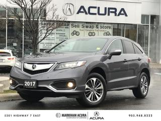 Used 2017 Acura RDX Elite at AWD, HTD STS, BLIND SPOT IND, PWR TRUNK for sale in Markham, ON