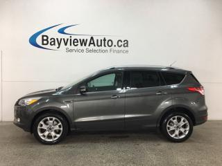 Used 2016 Ford Escape Titanium - KEYPAD! HTD LTHR! ECOBOOST! NAV! SYNC! REVERSE CAM! WIFI! BSA! for sale in Belleville, ON