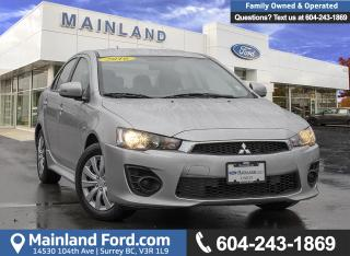 Used 2016 Mitsubishi Lancer ES *LOCALLY DRIVEN* for sale in Surrey, BC