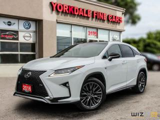 Used 2016 Lexus RX 350 F Sport. Panoramic. Navi. HUD. Lane Assist. Original for sale in Toronto, ON