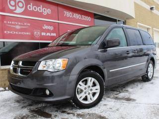 Used 2017 Dodge Grand Caravan Crew / DVD / Garmin Navigation / Back Up Camera for sale in Edmonton, AB