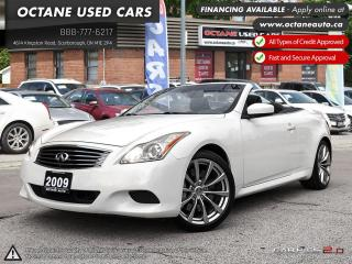 Used 2009 Infiniti G37 Sport Package Hard Top Convertible ACCIDENT FREE! NAVI! BACKUP CAM! for sale in Scarborough, ON