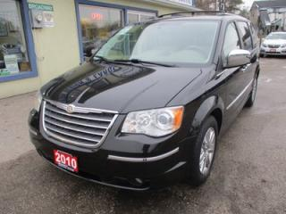 Used 2010 Chrysler Town & Country LOADED LIMITED EDITION 7 PASSENGER 4.0L - V6.. CAPTAINS.. SWIVEL-N-GO.. LEATHER.. HEATED SEATS.. POWER DOORS & WINDOWS.. DVD PLAYER.. for sale in Bradford, ON
