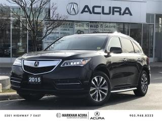 Used 2015 Acura MDX Tech at REAR ENT SYS, NAVI, BK UP CAM, PWR TRUNK for sale in Markham, ON