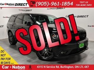 Used 2017 Dodge Durango R/T| AWD| SUNROOF| BLIND SPOT DETECTION| NAVI| for sale in Burlington, ON
