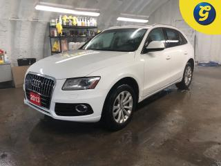 Used 2013 Audi Q5 2.0 Quattro Premium *  Panoramic Sunroof * Leather interior * Phone connect * Voice recognition *  Power tailgate * WIFI * Downhill assist * Heated fr for sale in Cambridge, ON