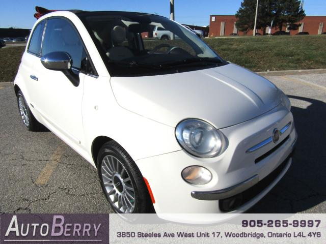 2013 Fiat 500 Lounge - Convertible - 5 Speed