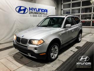 Used 2008 BMW X3 3.0 X-DRIVE + TOIT PANO + CUIR + WOW! for sale in Drummondville, QC