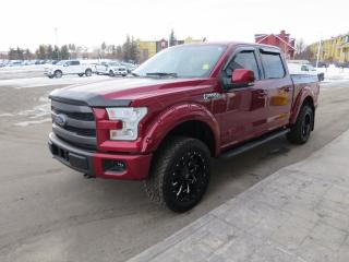 Used 2015 Ford F-150 Lariat Clean carfax report, 5.0l V8 FFV engine, technology package, sport package for sale in Okotoks, AB