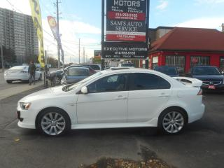 Used 2010 Mitsubishi Lancer GTS / LEATHER/ HEATED SEATS / ALLOYS / CERTIFIED / for sale in Scarborough, ON