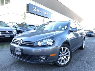 Used 2014 Volkswagen Golf Wagon Wolfsburg Edition 2.0 TDI 6sp NO Accidents, Local, for sale in North Vancouver, BC