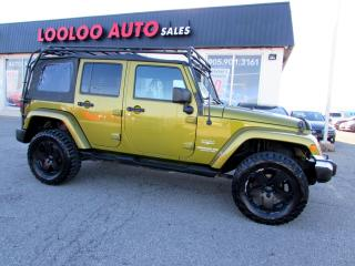 Used 2008 Jeep Wrangler UNLIMITED SAHARA AWD BLUETOOTH CERTIFIED 2YR WARRANTY for sale in Milton, ON
