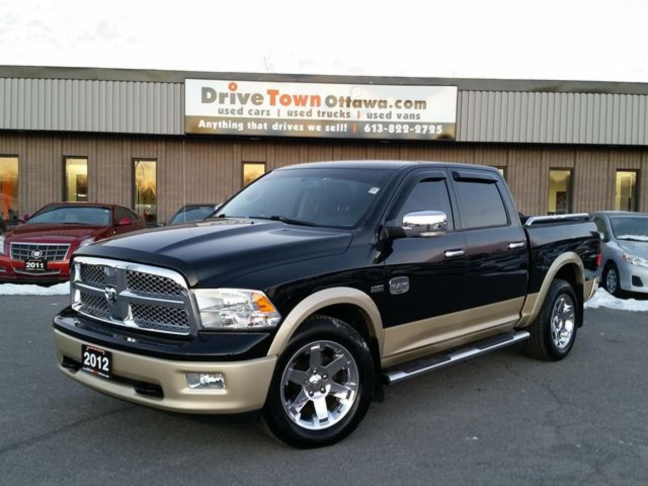 2012 RAM 1500 LARAMIE LONGHORN CREW 4X4 **NAV/MOONROOF/LEATHER**