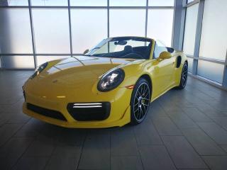 Used 2017 Porsche 911 Turbo S Cabriolet | CPO | Ext. Warranty | Aerokit | Burmester | H/C Seats | Front Axle Lift for sale in Edmonton, AB