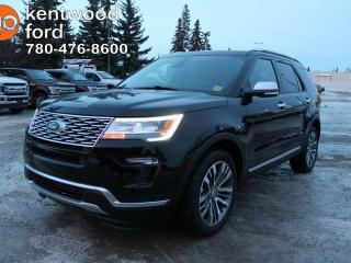 New 2019 Ford Explorer PLATINUM, FORDPASS CONNECT, NAVIGATION, HEATED STEERING WHEEL, 2ND ROW DUAL CAPTAINS SEAT for sale in Edmonton, AB