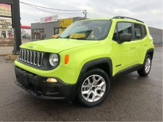 Used 2017 Jeep Renegade Sport  Alloys  Auto   FWD  Low Mileage for sale in St Catharines, ON
