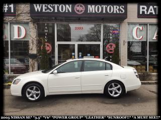 Used 2005 Nissan Altima SE*3.5*V6*PWR GRP*LEATHER*SUNROOF*SOLD AS IS!!* for sale in Toronto, ON