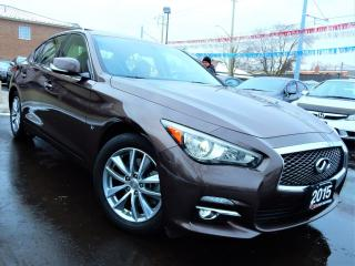 Used 2015 Infiniti Q50 AWD | NAVIGATION.CAMERA | LEATHER.ROOF | ONE OWNER for sale in Kitchener, ON