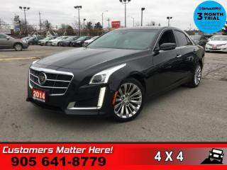 Used 2014 Cadillac CTS Premium  PREMIUM V6 AWD ADAP-CC CW LD AUTO-BRAKE NAVI HUD REMOTE for sale in St. Catharines, ON