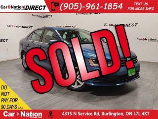Used 2017 Volkswagen Jetta Wolfsburg Edition| SUNROOF| BACK UP CAMERA| for sale in Burlington, ON