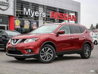 Used 2016 Nissan Rogue SL AWD moonroof, leather, heated seats, navigation, electric seats, reverse camera, tilt steering, CD, Bluetooth, cruise control, intelligent key for sale in Orleans, ON