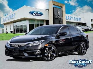 Used 2018 Honda Civic Sedan Touring, $94/wk, NAV, roof, leather, backup cam for sale in Scarborough, ON