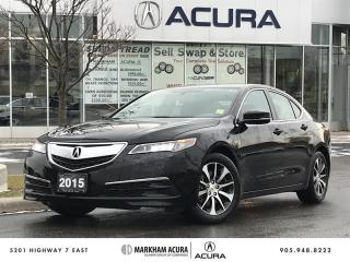 Used 2015 Acura TLX 2.4L P-AWS BKUP CAM, HTD STS, PWR RF, B/T CNNCTVTY for sale in Markham, ON