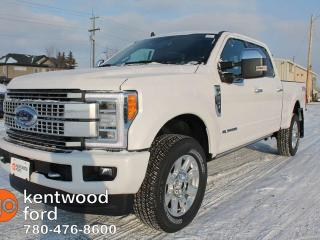 New 2019 Ford F-350 Super Duty SRW Platinum, DIESEL, Luxury! Moonroof, Adaptive Cruise, Text start remote, NAV, Heated/Cooled Leather Seats, Cameras for sale in Edmonton, AB