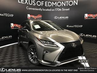 Used 2019 Lexus RX 350 DEMO UNIT - F SPORT SERIES 2 for sale in Edmonton, AB