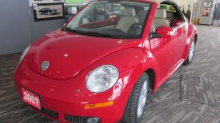 Used 2007 Volkswagen New Beetle Wow! Red ragtop automatic for sale in Chatsworth, ON