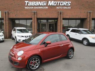 Used 2015 Fiat 500 SPORT | ONE OWNER | LEATHER | ALLOYS | BLUETOOTH for sale in Mississauga, ON