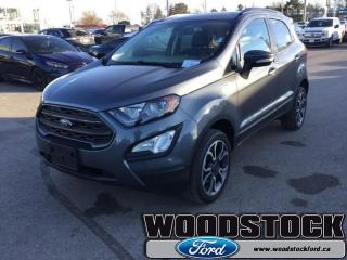 New 2018 Ford EcoSport SES  300A, SES, MOONROOF for sale in Woodstock, ON