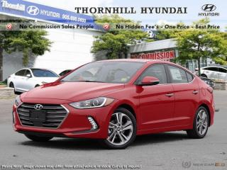 New 2018 Hyundai Elantra Limited  - Navigation -  Sunroof for sale in Thornhill, ON
