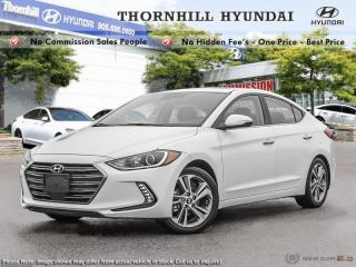 Used 2018 Hyundai Elantra Limited  - Navigation -  Sunroof for sale in Thornhill, ON