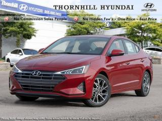 New 2019 Hyundai Elantra Luxury Auto  - Sunroof -  Leather Seats for sale in Thornhill, ON
